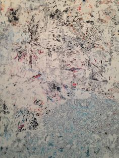 Mark Bradford Artist Painting Detail Variations Conversations in and Around Abstract Painting Exhibition Lacma
