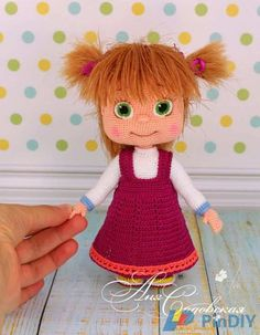 Amigurumi Pattern Knitting Clothes for the Timosha (Antoshka) baby / PDF file by Anna Sadovskaya - Her Crochet Amigurumi Patterns, Amigurumi Doll, Doll Patterns, Crochet Doll Pattern, Crochet Dolls, Crochet Patterns, Masha Doll, Stuffed Toys Patterns, Crochet Animals