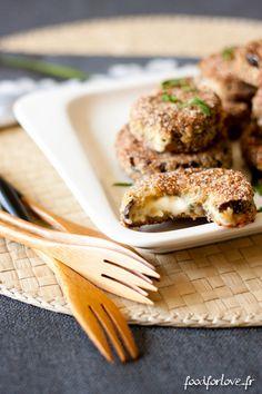 Aubergines Panées et Fourrées à la Fourme d'Ambert - In the Food for Love
