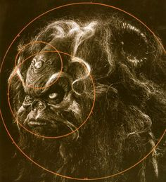'Aughra', detail of a page from The World of the Dark Crystal by Brian Froud (who was the conceptual designer for the 1982 Jim Henson and Frank Oz film).