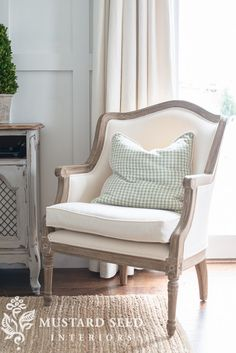 Baxton Studio Charlemagne French Accent Chair | via Miss Mustard Seed