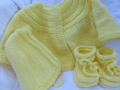 Baby Sweater Set by KingstonAlpacaKnits on Etsy