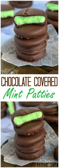 Rich and creamy, these Chocolate Covered Mint Patties are so easy to make and are incredibly scrumptious! // Mom On Timeout