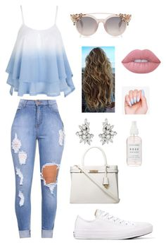 """""""Untitled #216"""" by fashiongeekotp ❤ liked on Polyvore featuring Converse, Lime Crime and Dorothy Perkins"""