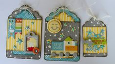 BoBunny: Blog Hop Time!! Gift Tags by Romy Veul featuring the Toy Box Collection and Imagine Crafts Markers and Tape. #BoBunny @romy19