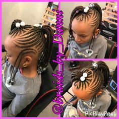 - All For Hairstyles Toddler Braided Hairstyles, Toddler Braids, Lil Girl Hairstyles, Black Kids Hairstyles, Natural Hairstyles For Kids, Braids For Kids, Girls Braids, Toddler Hair, Natural Hair Styles