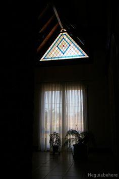 imgp0612 Gran triangulo de rombos y flor biselada . 2009 #vitraux #vidrio #glass-art #vetrata-decorata
