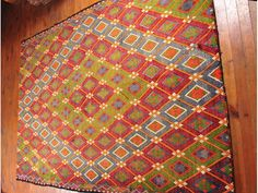 Beautiful Colorful Wool Area Rug