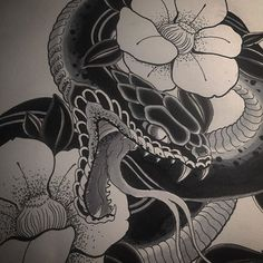 In progress #tattooartist #tattoolife #tattooing #vicenza #japanesetattoos #horimono #hebi #ink #inkedup #irezumi #snake  #tat #tengu #tattoos #tattooflash #art #horimono #tsubaki  #blacktattoo #bestoftheday #blackandwhite #kyoto #kyotostyle #kyototattoo