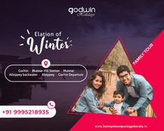From misty tea gardens in Munnar to a night spent floating on the calm backwaters in Alleppey... Explore colourful destination and attraction of Kerala with your family!!   For Booking: Call / Whatsapp : +91 9995218935, +91 9895999412 Website : http://www.honeymoonpackagekerala.in