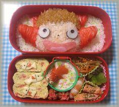 Ponyo bento, studio ghibli food