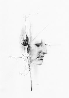 Watersoluble sketching pencil on paper, Richard Stark ART Pencil Art Drawings, Comebacks, Illustration Art, Distortion, Portrait, Sketching, Artwork, Behance, Paper