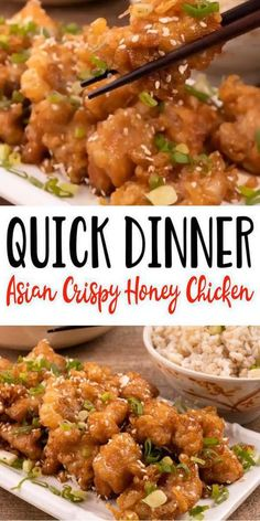 Need quick dinners for 2? Make this tasty and delish Asian crispy honey chicken. Easy Asian honey chicken recipe that is kid friendly and simple to make. Great gameday food recipe or make and take to parties. Quick weeknight dinner recipes or Sunday night dinner. Cheap budget friendly Chinese meal idea. 100% to be family favorite recipe. Checko out this Chinese honey chicken today Asian Honey Chicken Recipe, Crispy Honey Chicken, Chinese Honey Chicken, Kid Friendly Chicken Recipes, Cheap Chicken Recipes, Crispy Chicken Recipes, Best Chinese Food, Easy Chinese Recipes, Asian Food Recipes