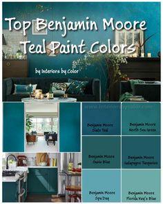 Benjamin Moore Teal Paint Colors by www.interiorsbyco… Benjamin Moore Teal Paint Colors by www.