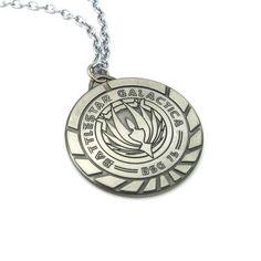 Battlestar Galactica Badge Necklace