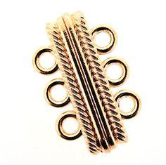Magnetic Clasp 3-strand 27x17x7mm Rose Gold Color Beads Direct USA http://www.amazon.com/dp/B00VC4T9BO/ref=cm_sw_r_pi_dp_YHbgvb0MXNKBF