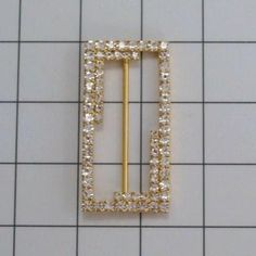SWAROVSKI CRYSTAL Oblong BUCKLES in Silver or Gold by allysonjames