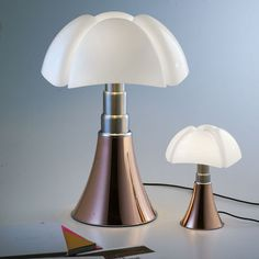 Minipipistrello LED / H 35 cm - Kupfer   Martinelli Luce   Tischleuchte