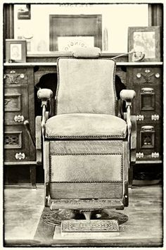Vintage Koken Barber Chair, still in service after 130 years!