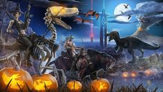 For one week only Ark Survival Evolve has gone all spooky. New dinosaurs like the DodoRex have appeared as well as zombie Dodo's and skeleton dinosaurs. Go hunt them down before they disappear!