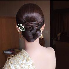 Trendy Ideas For Hair Wedding Bridesmaid Elegant Bun Indian Wedding Hairstyles, Bride Hairstyles, Curled Hairstyles, Trendy Hairstyles, Natural Hair Styles, Short Hair Styles, Elegant Bun, Bridal Hair, Hair Wedding