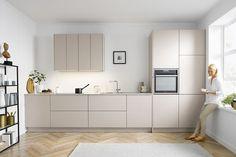 Minimal Kitchen Design, Kitchen Room Design, Living Room Kitchen, Interior Design Kitchen, French Kitchen Decor, Home Decor Kitchen, Home Kitchens, Küchen Design, Layout Design