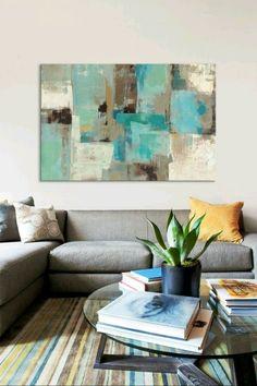 Cuadros Modernos 60x120 Abstractos Tripticos Texturados - $ 1.799,99 by marquita
