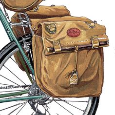 Frost River 384 Highway 1 Panniers bike bag drawing