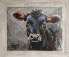 Afbeeldingsresultaat voor koe schilderen op steigerhout