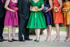 Most of this wedding is over the top for my taste but OH MY GOSH THOSE DRESS COLORS. I am really liking brides in green.