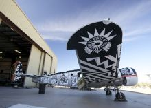 Art from the Boneyard Project exhibition, now on display at the Pima Air & Space Museum in Tucson, Ariz.,
