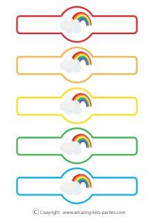 FREE Rainbow Napkin Rings