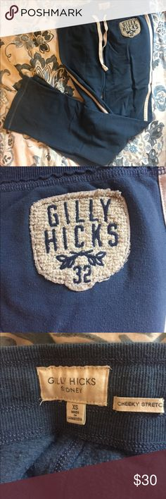 Gilly Hicks blue sweatpants Super comfy Gilly Hicks blue sweatpants! They do not sell clothing like this anymore! Super comfortable, great fit, and in perfect condition. Gilly Hicks Pants