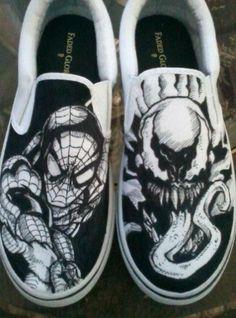 Spiderman vs. Venom Shoes= amazing