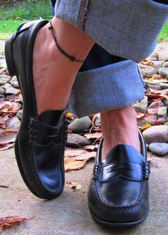 Vintage Sebago Black Cordovan Loafers Handsewn by swankyturtle