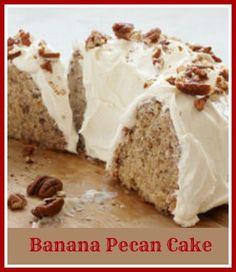 Banana Pecan Cake with Cream Cheese Frosting -  http://thegardeningcook.com/banana-pecan-cake/