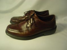 NICE Men's Ecco Shoes Stitch Toe Comfort Oxfords Brown Leather 9 US 43 EU #ECCO #Oxfords