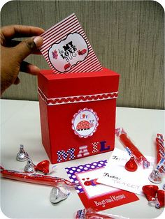 Upcycled Valentine's Mail Box Tutorial at Cupcake Wishes & Birthday Dreams