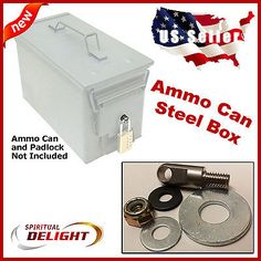 Locking Hardware Ammo Can Steel Box Case Ammunition Container Fits 30 Cal 50 Cal