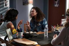 Sharon Leal as Charlotte and Jessica Sula as Maddie in 'Recovery Road'