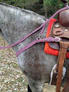 Horse Tack Paracord Head Stall, Breast Collar, Wither Strap, Reins, Each piece sold separately Choose your color