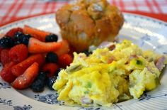 Fancy Egg Scramble - Cover and refrigerate overnight until 30-40 minutes before you want to serve the dish  Cook uncovered at 350 degrees for 30-40 minutes
