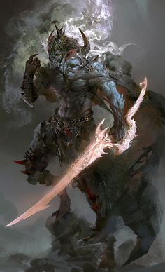 依剑♪长情采集到游戏角色设计之—怪物类(2418图)_花瓣插画/漫画