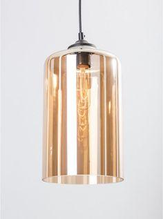 Kree amber glass pendant light