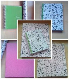 Una buena idea para decorar viejas carpetas y cuadernos