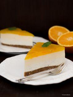 Orangen Vanille Cheesecake mit einem Hauch Muskat
