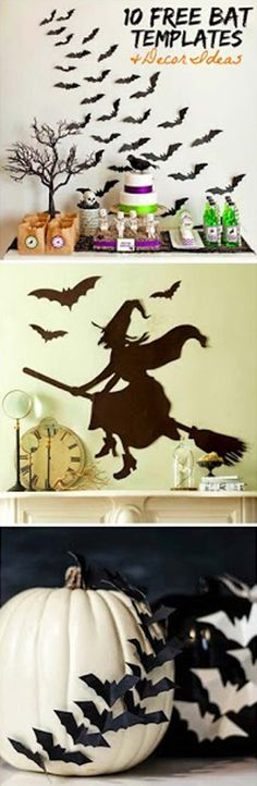 Still looking for free bat templates for halloween decor? Here are 10 great free template ideas.