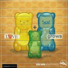 Love Grows by Jason Kotecki #gummybears #family #art #newbaby