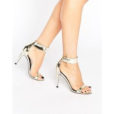 b3350faf6b ASOS HARLEE Heeled Sandals ($41) ❤ liked on Polyvore featuring shoes,  sandals,