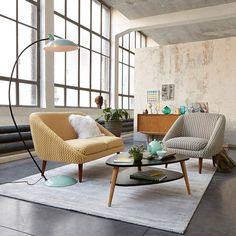 Table basse vintage double plateau coloris noir, Jimi La Redoute Interieurs